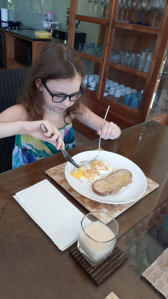 Латика завтракает